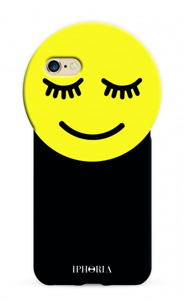 Round Case Yellow Smiley for iPhone 7/ 8 1