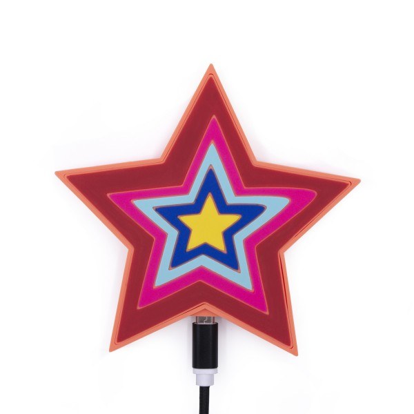 QI Wireless Charger - Colorful Star 1
