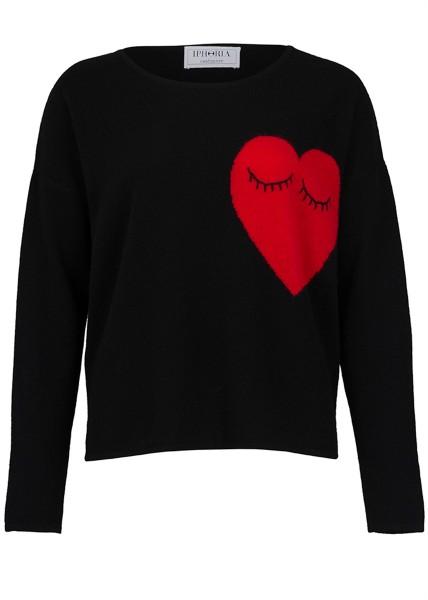 Cashmere Loose Jumper Hearts. Größe 2 1