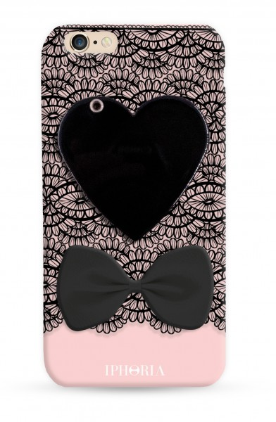 Mirror Case Black Heart for iPhone 7/ 8 1