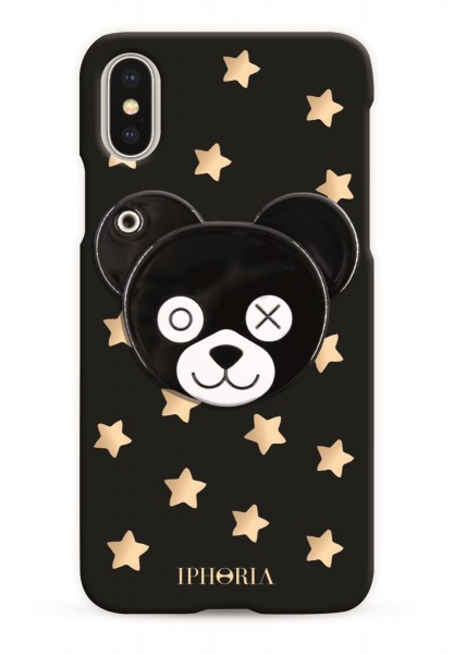 Case with Mirror for iPhone X/XS - Teddy With Stars 1