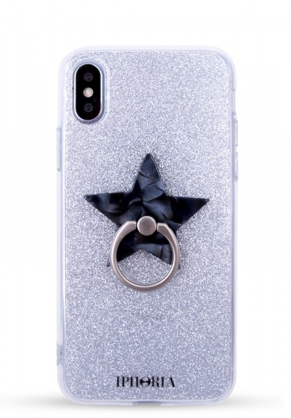 Case for Apple iPhone X/XS - Nacre Star with Silver Glitter 1