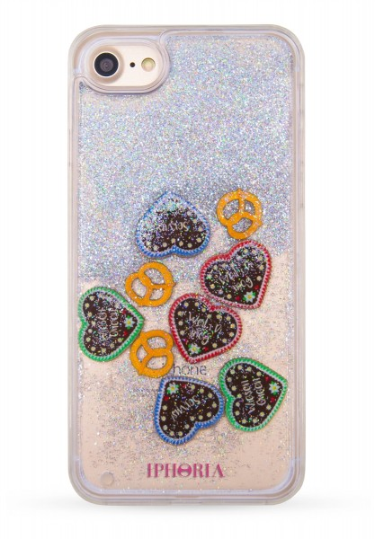 Case for Apple iPhone 7  / 8 - Oktoberfest Limited Edition Hearts and Pretzels 1