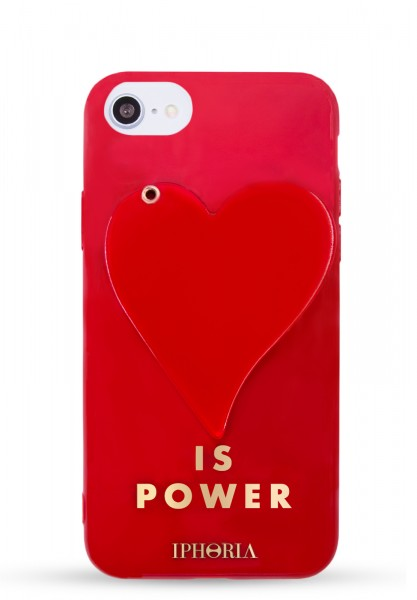 3D Case For Apple iPhone 7/8 - Red Heart Is Power - 1