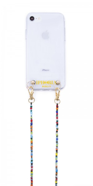 Necklace Pearl Case for iPhone 7/8 - Colorful Glass Pearls 1