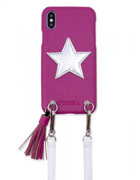 Necklace Strap Case for iPhone X/Xs -Violett Star 1