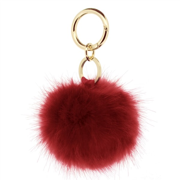 Fake Fur Keychain sirene red  1