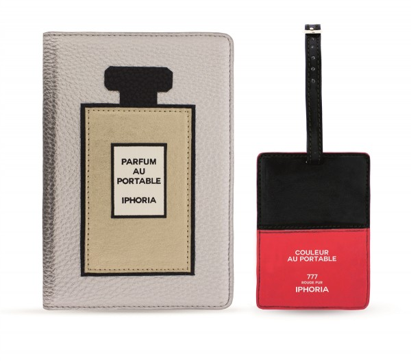 Iphoria Collection Travel Kit (Passport Holder + Luggage Tag) Beauty Au Portable 1