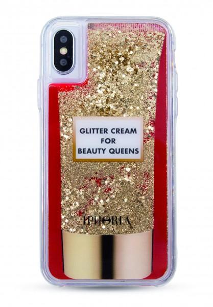 Liquid Case for iPhone X - Glitter Cream 1
