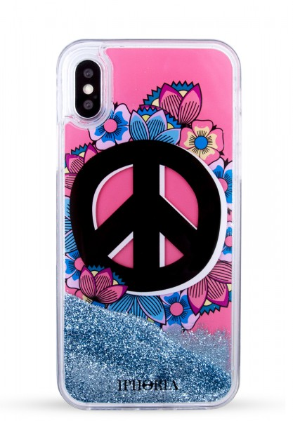 Liquid Case for Apple iPhone X/Xs - Coral Peace Is Power 1