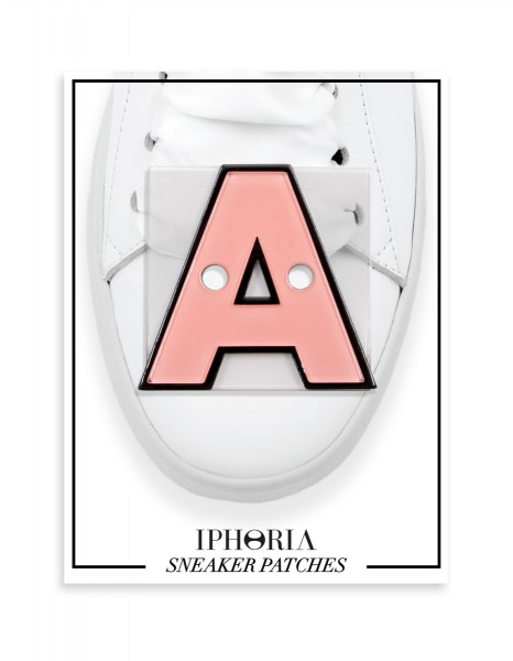 Acryl Sneaker Patches - Letter  A  Rose 1