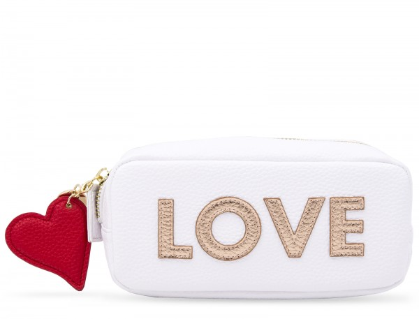 Mini Power Purse incl. Powerbank (2600 mAh) - Gold Love White 1