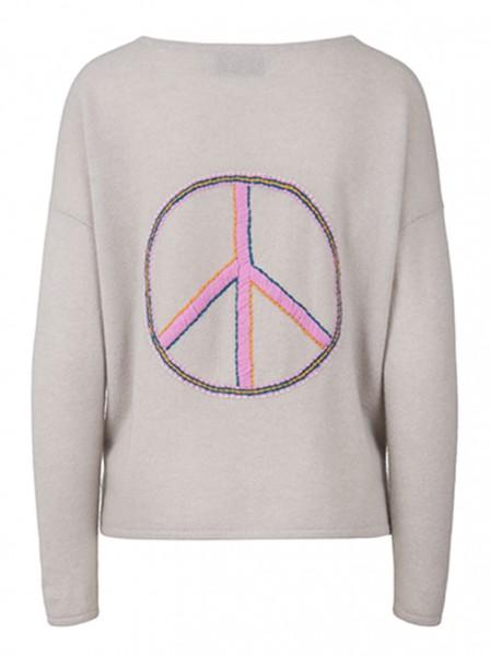 100%  Cashmere Boxy Sweater - Peace Grey - Size 1 1