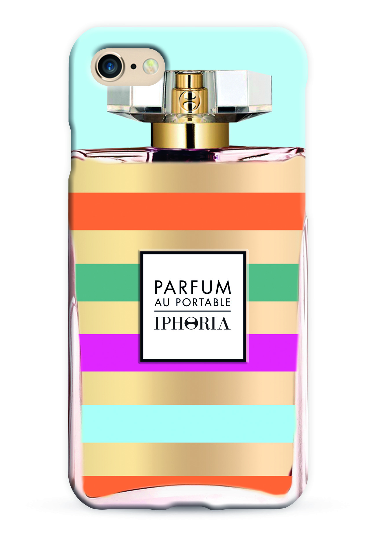 perfume case with mulitcolour stripes for iphone 7 cases iphoria. Black Bedroom Furniture Sets. Home Design Ideas