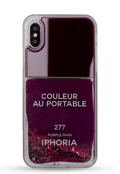 Liquid Case for Apple iPhone X/XS - Nailpolish Purple 1