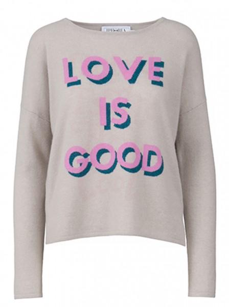 100%  Cashmere Boxy Sweater - Peace Grey - Size 2 1