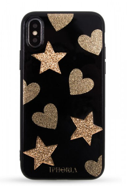 3D Case for Apple iPhone X/XS - Heart Star Pattern 1
