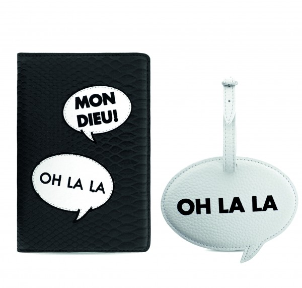 Travel Set with Passport Case and Luggage Tag Speech Bubbles 1