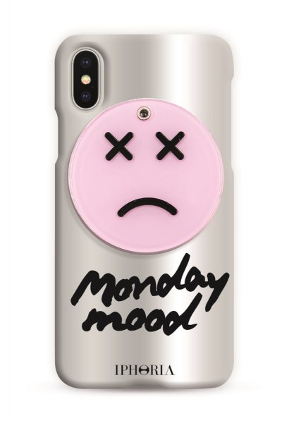 Case with Mirror for Apple iPhone X/XS - Sad Smiley  1