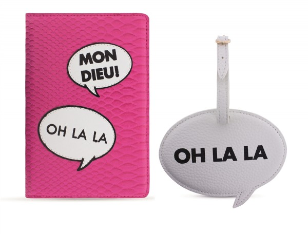 Travel Kit (Passport Holder + Luggage Tag) Oh La La 1