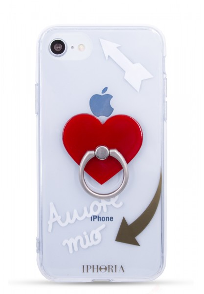 Case for Apple iPhone 7/8 - Ring Transparent Amore Mio  1