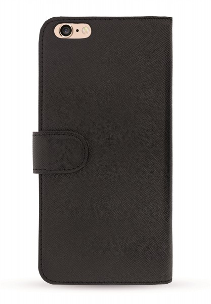 Black Saffiano Book Case für Apple iPhone 6/ 6S 1