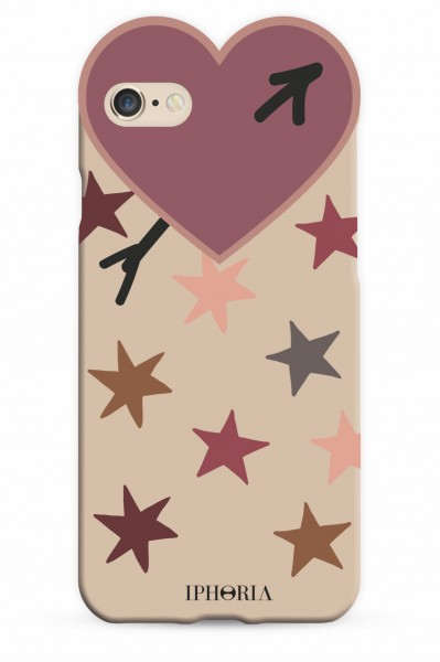 Heart Case Purple Stars for iPhone 7/ 8 1