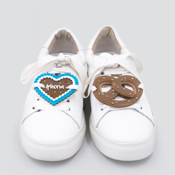 Acryl Sneaker Patches - Pretzel and Heart 1