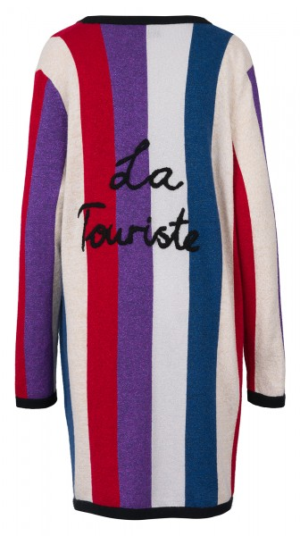 100% Cashmere Cardigan - Stripes Multicolor - Size 2 1