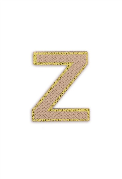 Ledersticker Letter Z Rose Gold 1