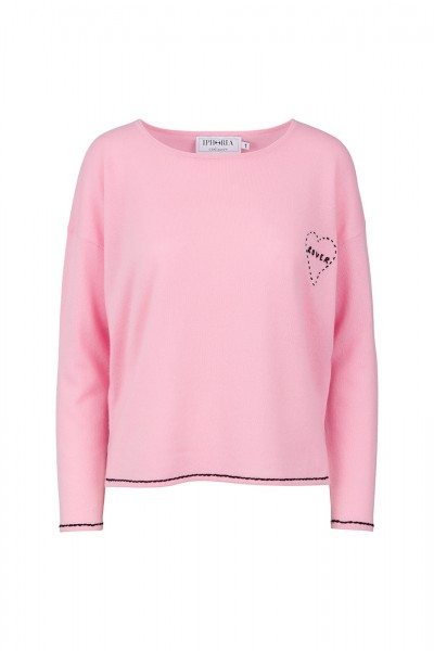 Cashmere Boxy Sweater - Pink Lover Size 0 1