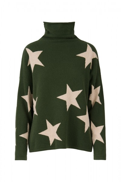 100% Cashmere Turtleneck Sweater - All The Stars Size 1 1