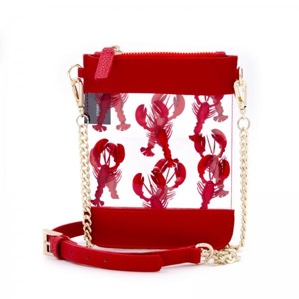 Micro Shoulder Bag Vertical - Transparent Lobster Red 1
