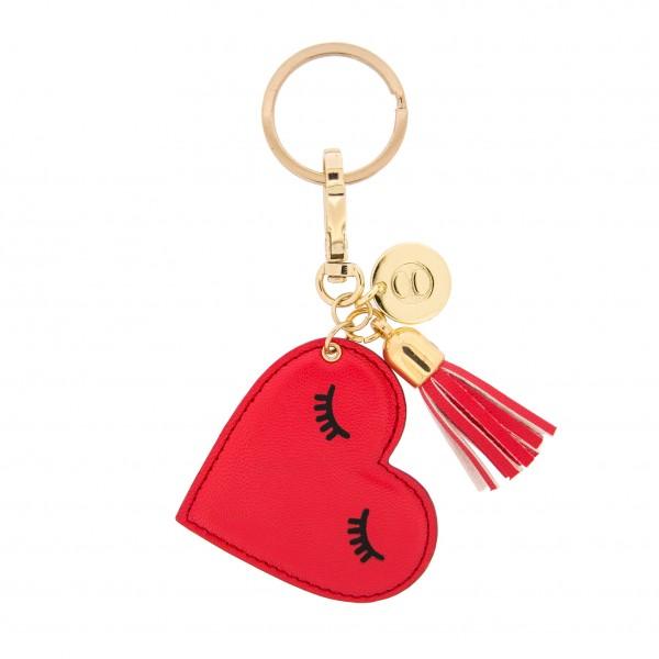 Keychain Red Sleeping Heart  1