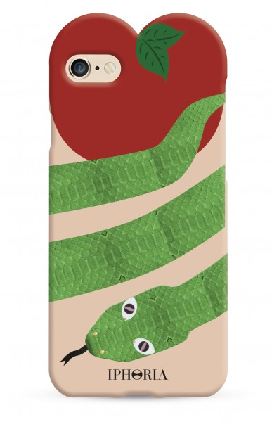 Heart Case Green Snake for iPhone 7/ 8 1
