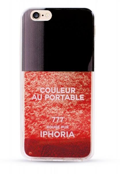 Liquid Case Vernis Rouge Pur Glitter für Apple iPhone 6/ 6S 1