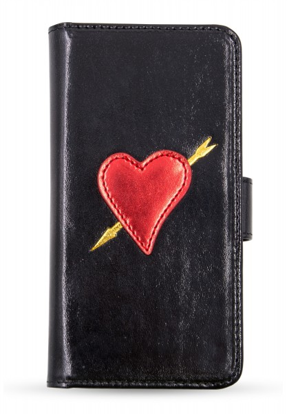Bookcase for Apple iPhone X/XS - Black Heart with Arrow 1