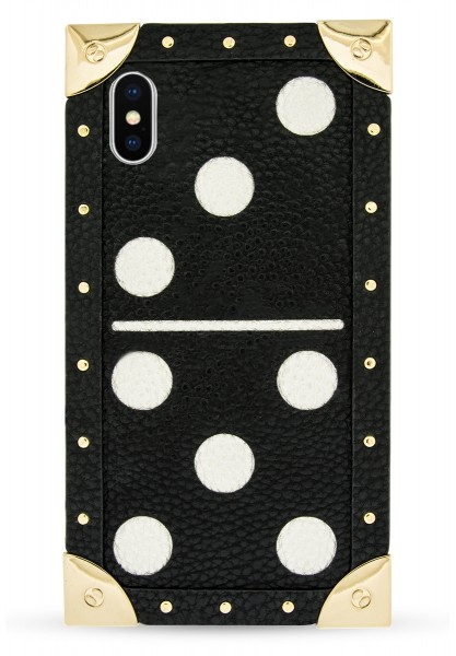 Veggie Leather Trunk Case for Apple iPhone X/XS -  Domino Black 1