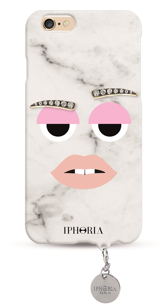 Monster Cool Marble with silver Plate for Apple iPhone 6/ 6S