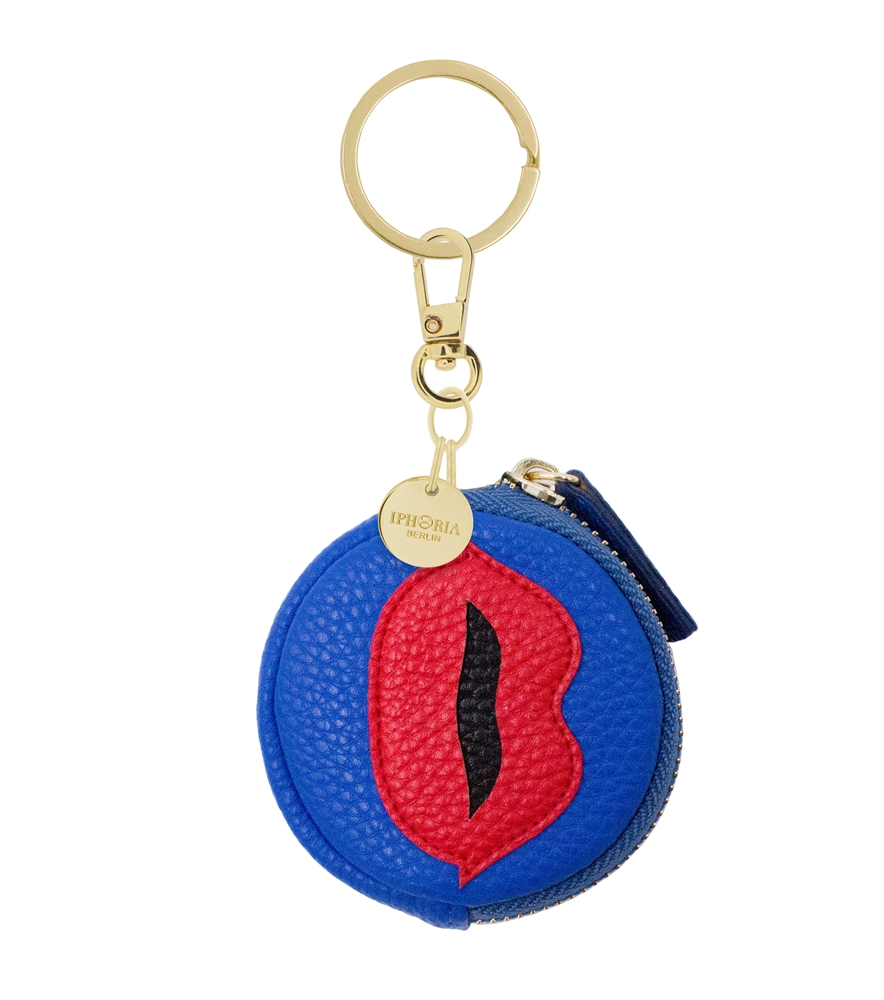 Mini Wallet Charm Red Lips