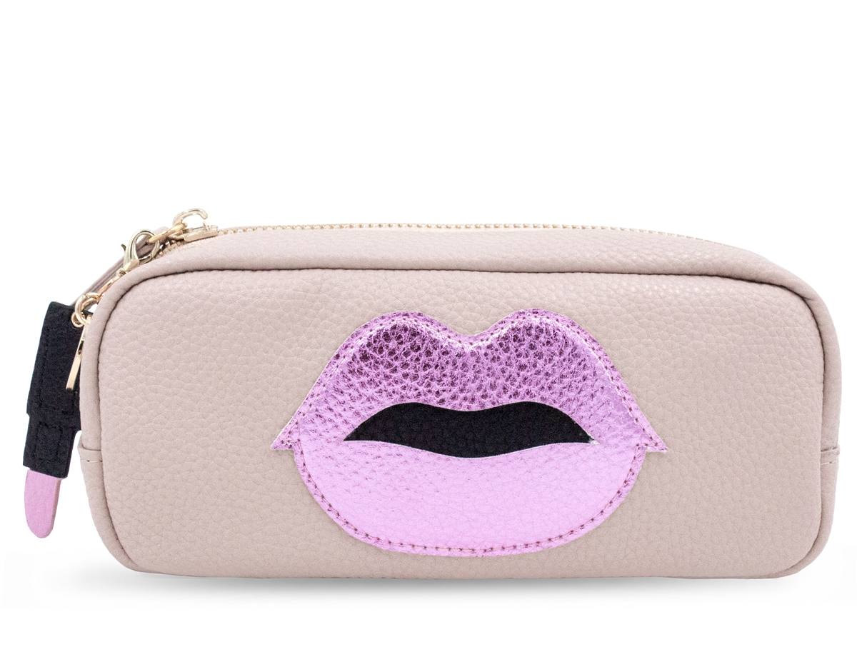 Mini Power Purse Pink Lips with Lipstick Charm