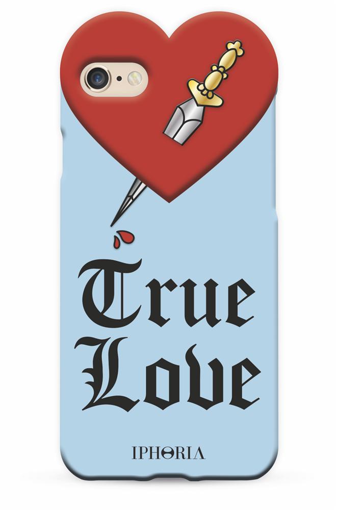 Heart Case Light Blue True Love for iPhone 7/ 8