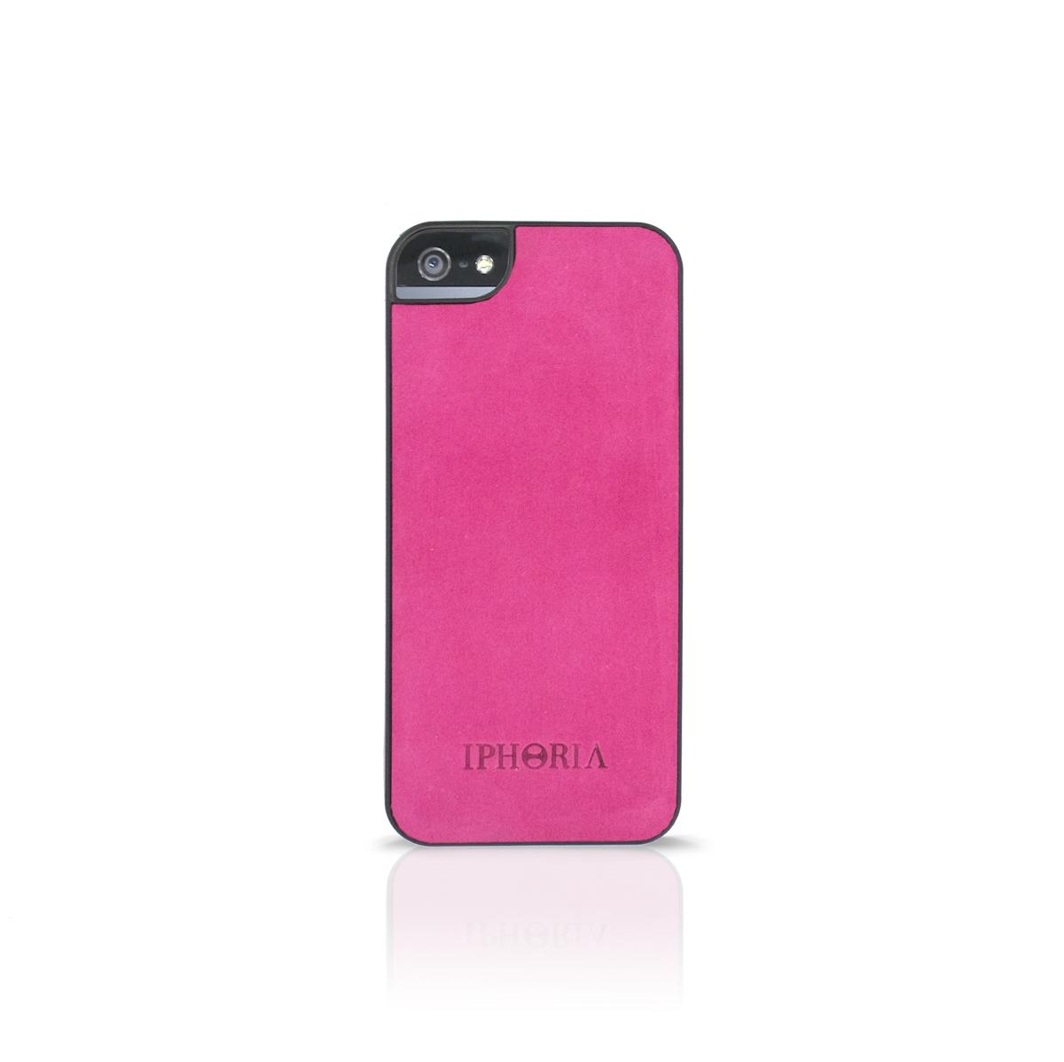 TPU Case Leather Fuchsia für Apple iPhone 5/ 5S/ SE