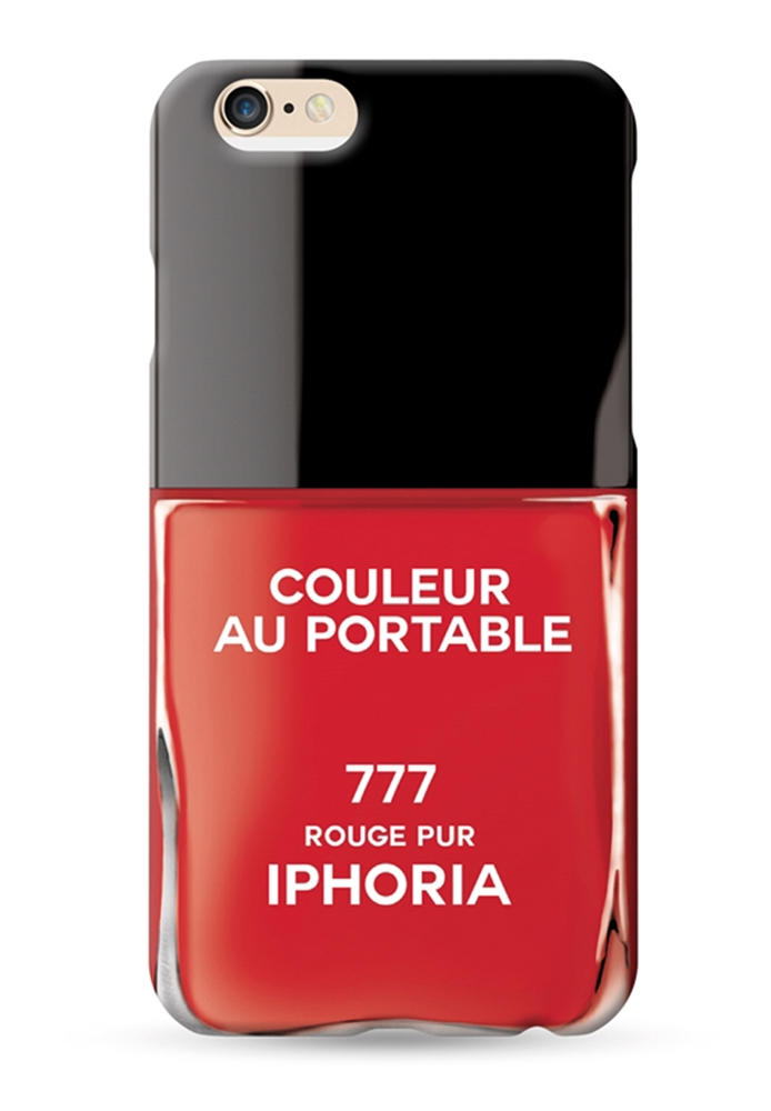 couleur au portable vernis rouge pur for iphone 6 6s cases iphoria. Black Bedroom Furniture Sets. Home Design Ideas