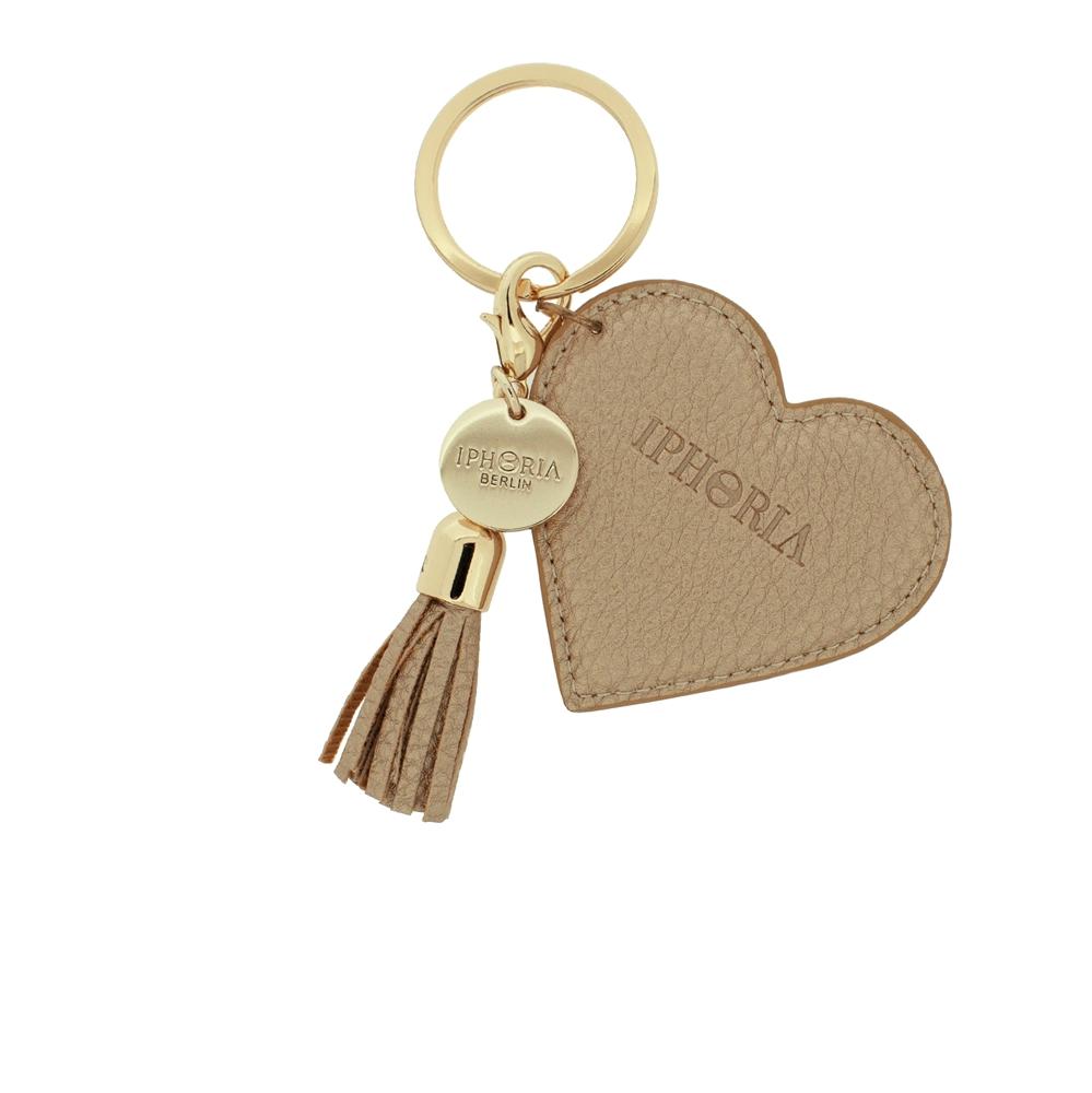Keychain Heart Grain Golden
