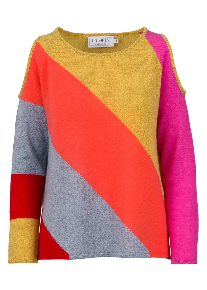 Cashmere Basic Jumper Stripy Colours Size 2