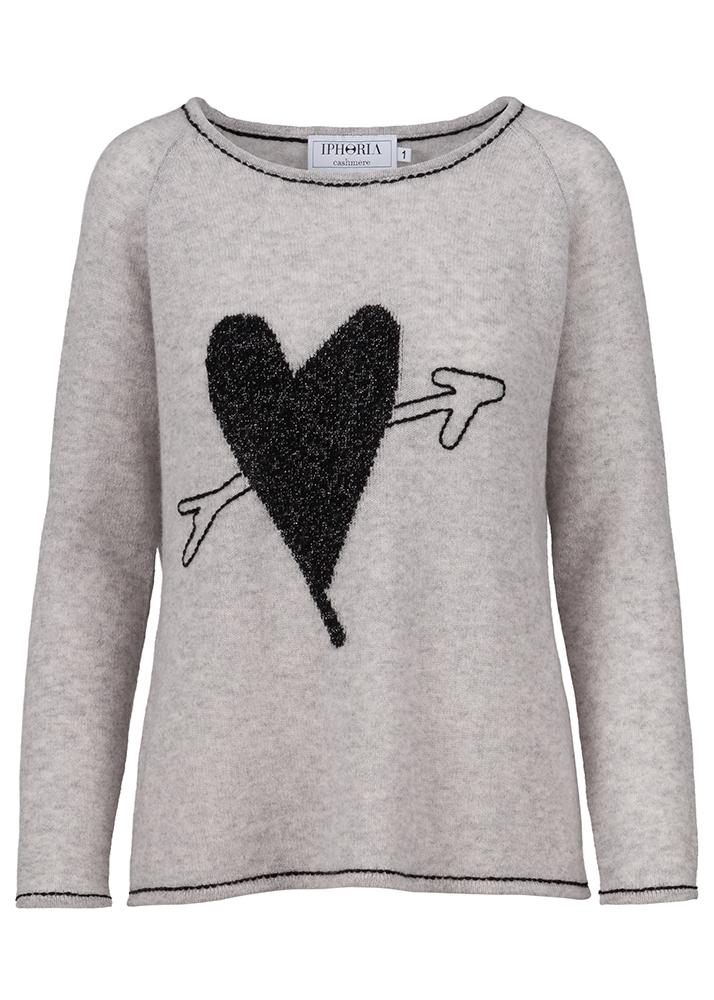 Cashmere Basic Jumper True Love Grey Size 1