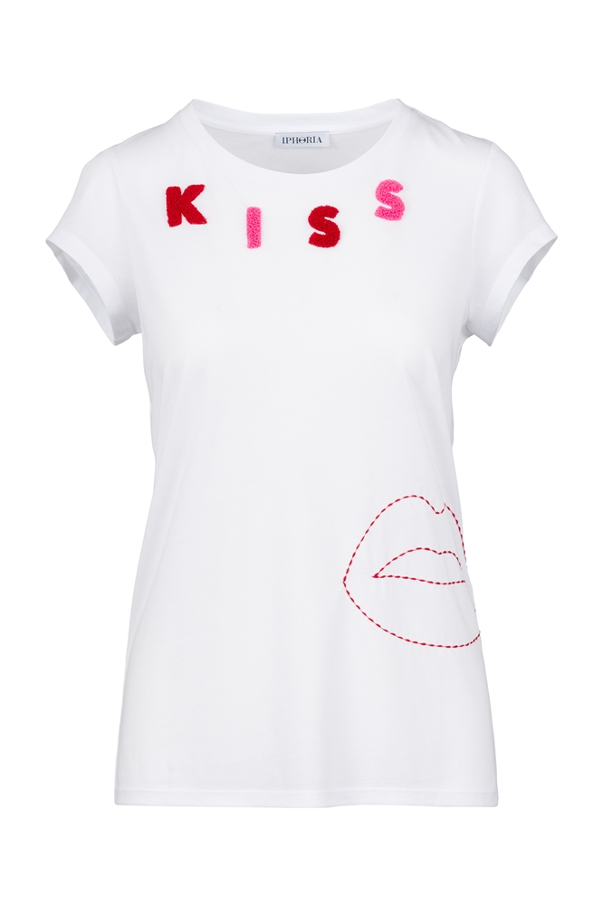 IPHORIA READY TO WEAR COLLECTION T-Shirt Kiss. Size 2