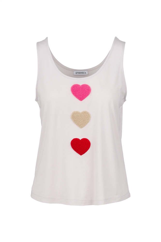 IPHORIA READY TO WEAR COLLECTION Top Hearts. Size 2