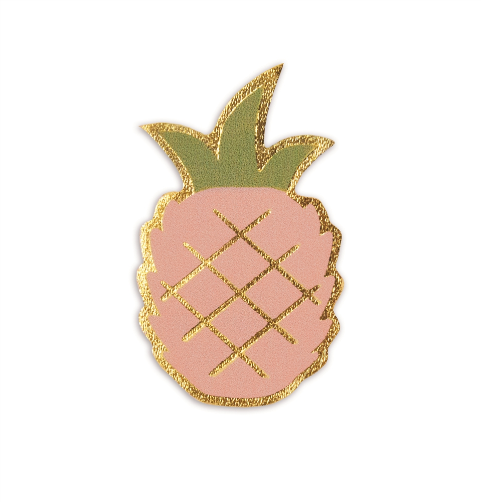 Leather Sticker Pineapple